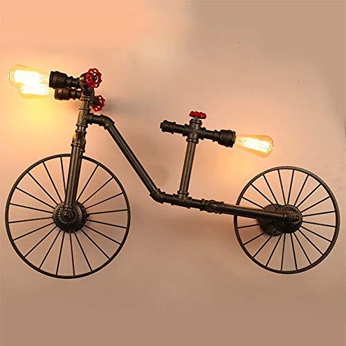 BDYJY ® Kreative Fahrradschlauch Wandleuchte Loft Schmiedeeisen Retro Cafe Restaurant Lichtbalken Tisch Industrie Wind Fahrrad Wandleuchte - Lichtbalken Badezimmer Für