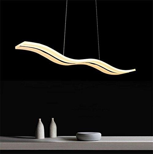Kronleuchter/Modernen Minimalistischen Restaurant Kronleuchter Acryl Kreative Persönlichkeit Deckenleuchte Angelschnur Kronleuchter Bar Esszimmer Esstisch LED Kronleuchter (Farbe : Weißes Licht)
