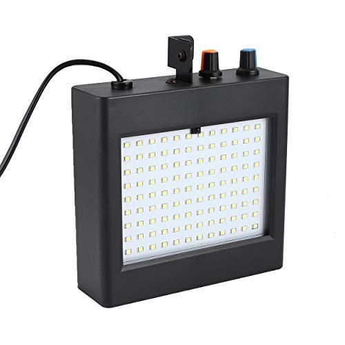 (Lorenlli 25 Watt LED Bühne Lichter 108 Patch Strobe Lichter Mini Sound Control Beleuchtung Spezialeffekte Blitzlampe für Bar KTV Ballsaal)