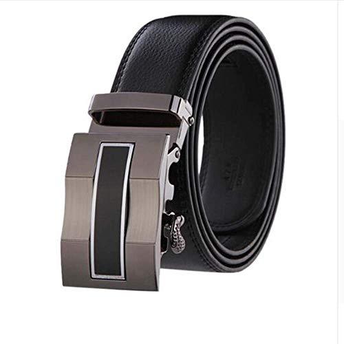 aoliaoyudonggha Mens Leather Strap Male Automatic Buckle Authentic Girdle Trend Belts Ceinture Gold Cummerbund-set