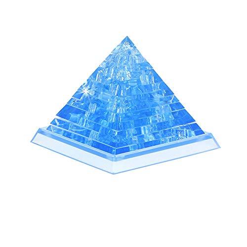 3D Kristall Puzzle niedlichen Pyramide Modell DIY Gadget Blöcke Gebäude Spielzeug Geschenk YunYoud babyspielzeug günstig Kinder