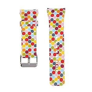 Silikon-Armband für Samsung Gear Fit2 Pro SM-R365 / Fit 2 SM-R360 Sport, mit verschiedenen Muster-Designs erhältlich, weiches Silikonmaterial