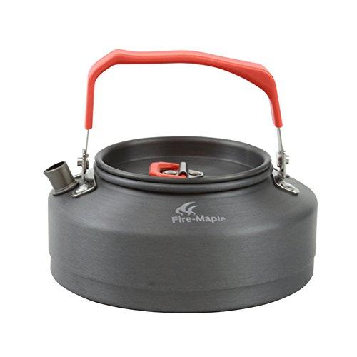 tentock Schnelle Hitze sammeln Camping Angeln Wärmetauscher Wasserkocher Ultralight Kaffee Teekanne eloxiertem Aluminium für Outdoor Picknick Indoor Küchengeschirr mit Mesh-Tragetasche, FMC-T3, 0.8L