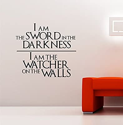 Game of Thrones - Knights Watch Oath Vinyl Decal Wall Art Sticker ver. 2