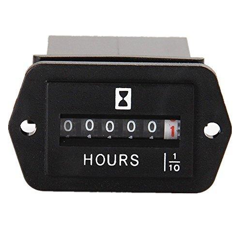 Stundenzähler AC 110-250 V für Generator ATV Rasenmäher Kettensäge Kompressor Tiller Mipper AC 110 V 120 V 220 V 230 V ()