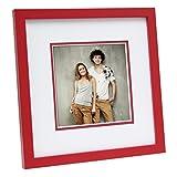 Deknudt Frames Bilderrahmen mit Aufsteller Farbe: Rot, Größe (Bild): 13 cm H x 13 cm B