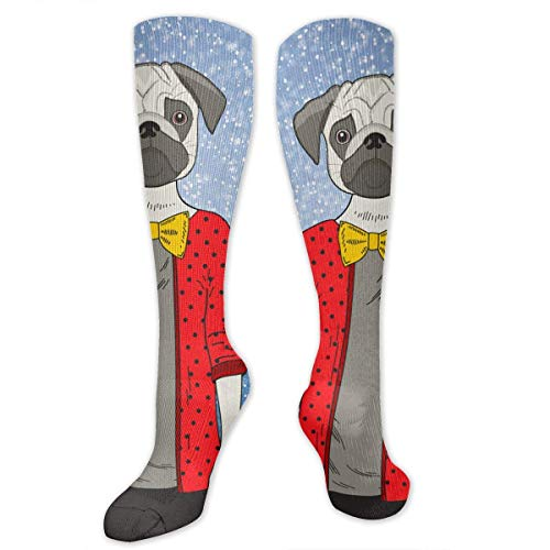 CVDGSAD Knee High Socks Cute Young Animal with Female Body Compression Socks Sports Athletic Socks Tube Stockings Long Socks Funny Personalized Gift Socks for Women Teens Girls (Teen Cute Young)