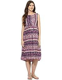 Mine4nine Women's Floral print maternity Midi dress