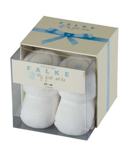 Falke Unisex - Baby Socken Erstling So Box, Einfarbig, Gr. 62 (Herstellergröße: 62/68), Weiß