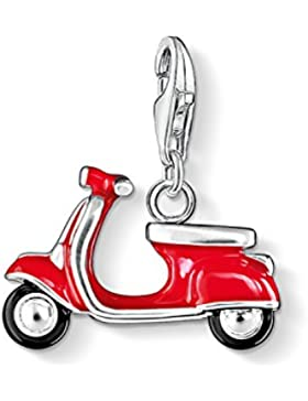 Thomas Sabo Damen-Charm-Anhänger Roller Vespa Charm Club 925 Sterling Silber rot schwarz 0827-007-10
