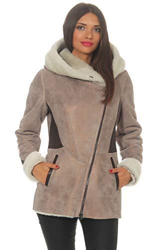 Lammfelljacke - Lena Damen Winterjacke Merino Felljacke Echtleder Jacke mit  Kapuze Größe XL, Farbe B aab0bd6b09