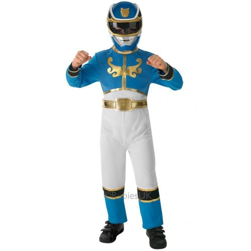 Saban–i-887758s–Kostüm für Kinder–Klassische Blau Power Rangers Mega Force–Größe S