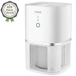 YISSVIC Purificador de Aire con Filtro HEPA y Filtro Carbón Activado, Equipado con Dos Modos y Función de Lones Negativos para PM2.5, Alergias, Bacterias y Otros Malos Olores