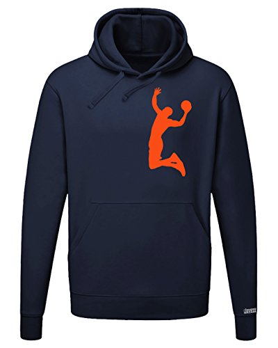 BASKETBALL DUNK - PINK - HERREN UND DAMEN HOODIE in Navy by Jayess Gr. L