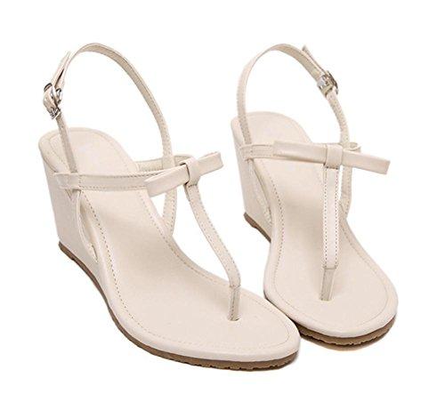 sandales mode casual d'été sandales orteil clip avec des sandales à talons hauts épais apricot