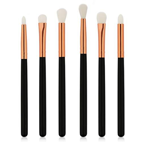 CYL Pinceau De Maquillage pour Les Yeux Ensemble, 6 Combinaisons, Outils De Beauté, Durable, Barbouillé pour Un Look, Vous Faire Paraître Impeccable,Gold