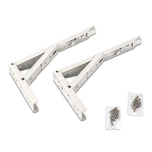 1 Paar SO-TECH® Klappkonsole 242,0 x 20,5 x 136 mm Stahl weiß beschichtet Tragkraft 55 kg -