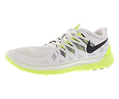 Nike Free 5.0 Men's Running Shoes Sneakers WHITE/VOLT/PURE PLATINUM/DARK OBSIDIAN 10 D(M) US