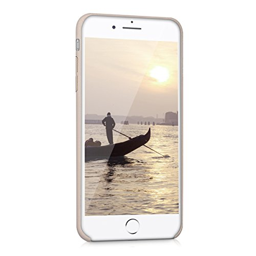 kwmobile Hülle für Apple iPhone 7 Plus / 8 Plus - Kunstleder Case Handy Schutzhülle - Backcover Cover Beige .Beige