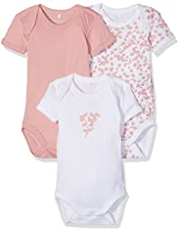 Name It Nbfbody 3p Ss Rose Tan Noos, Body Bébé Fille, (lot de 3)