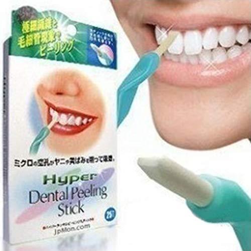 Teaio 25 Stück Zahnaufhellung Gummi Zahn Weißmacher Gummi für Weiße Entfernen von Flecken Zahn Pflege