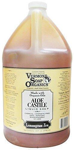 Soap-gallon (Vermont Soap Organics - Lemongrass Zen Liquid Aloe Castile Soap Gallon by Vermont Soap)