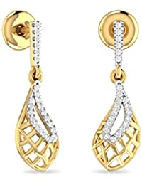 PC Jeweller The Murchadh 18KT Yellow Gold and Diamond Stud Earrings for Women