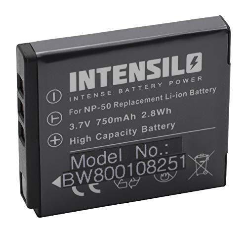 INTENSILO Li-Ion Akku 750mAh (3.7V) für Kamera Camcorder Kodak Playsport Waterproof Pocket-Camcorder wie NP-50, D-Li122, GB-20.