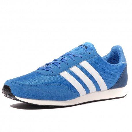 Adidas Herren V Racer 2.0 Schuhe, blue-footwear white-mystery blue (BC0107), 42 EU (Boxen Schuh Kunststoff)