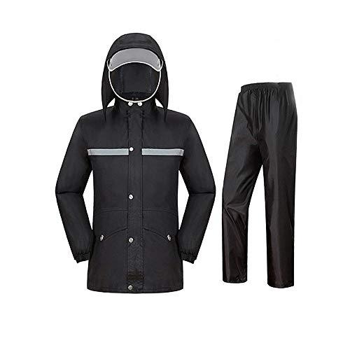 Guolipin Herren Warnweste Männer Mit Kapuze Für Radfahren Outdoor Sports Wasserdichte Outdoorjacke Winddichte Berg Regen Mantel Anzug (Size : M)