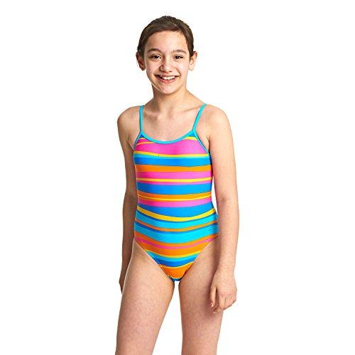 Zoggs Mädchen Folk Tale Yaroomba Floral Badeanzug, Stripes, 140 -