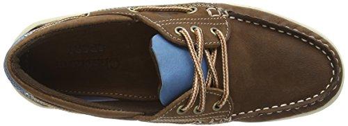 Chatham Damen Panama Bootsschuhe Braun (Tan/Blue)