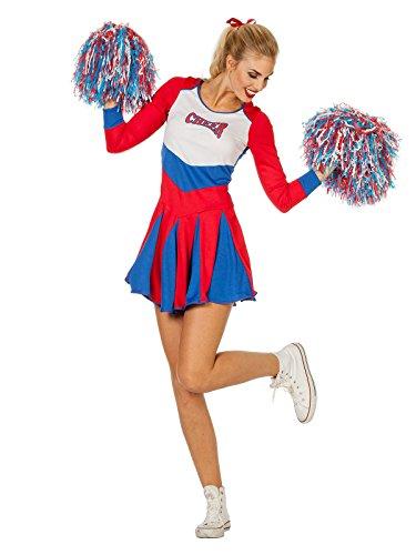 Wilbers Cheerleader Kostüm für Damen blau-rot
