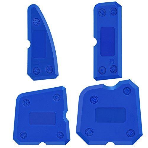 4 Stück Silikon Caulking Werkzeug Kit Silikon Dichtstoff Dichtungen für Dichtungsmasse Silikon Dichtungsanschluss (Blau)