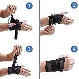 Actesso Handgelenkbandage für Sport - Handgelenk Bandage für Verstauchung, Arthritis oder Verletzungen durch wiederholte (Schwarz, Mittelgroß- Groß Rechts)