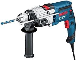 Bosch Professional Schlagbohrmaschine GSB 19-2 RE , 2-Gang, 13 mm Schnellspannbohrfutter, Tiefenanschlag, Zusatzhandgriff, 850 W, Koffer