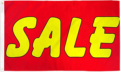 Sale Red and Yellow Business Polyester 3x5 Foot Flag Advertising Store Banner (Dekor Holiday Verkauf)