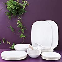 Royalford Soft Square Dinner Plate,Off White