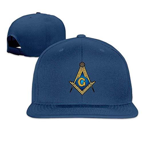 fboylovefor Mens/Womens Freemason Masonic Baseball Cap Flat Bill Cap Cotton Ash