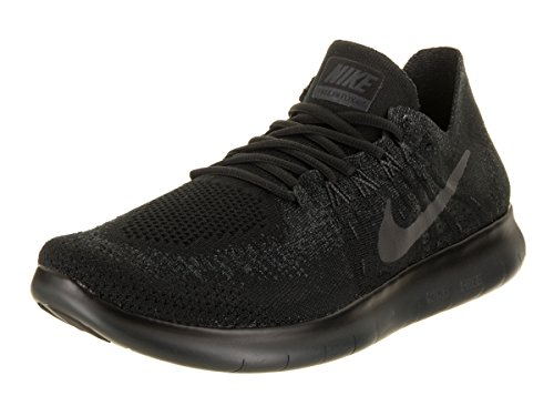 Nike Mens Free Run Flyknit 2017 Scarpe Da Corsa Nero / Antracite