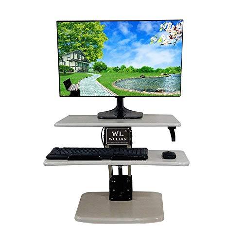 aushalt Großer Stehpult Extra Breiter Höhenverstellbarer Sit-Stand Tischkonverter für Dual Monitore Laptop Desktop & Tastatur Vormontierter Ergonomischer Riser Simple Modern Bedro ()