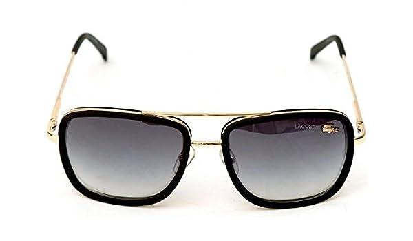 0400042cccb Lacoste L 143S Wayfarer Golden Black for Men   Women - Unisex (Generic)   Amazon.in  Clothing   Accessories