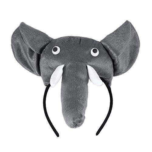 WOVELOT Banda de Cabeza de Elefante 3D Granja de Animales Mascara de Disfraz para ninos Adultos Baile de mascaras