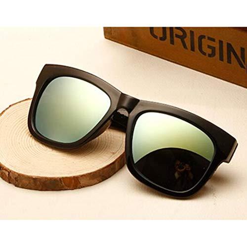 Taiyangcheng Vintage Square Sonnenbrille Männer Schwarz Frame Beschichtung Objektiv Anti-Reflektierende Sonnenbrille,Gold
