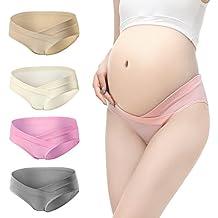 Sunshine Chow (Paquete de 4) Ropa Interior de Las Mujeres Embarazadas de Cintura Baja