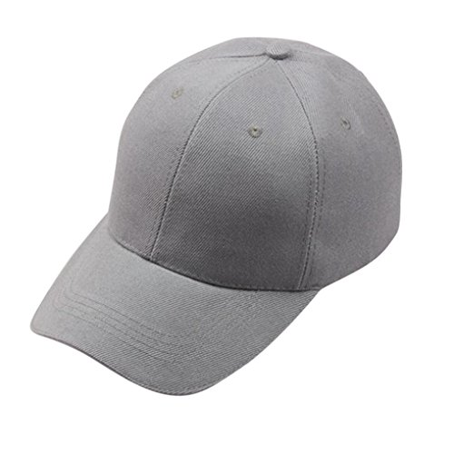 Hmeng Unisex Snapback❤️ verstellbare große Kreuz Dad Hat Flat Bill Baseball Cap (Grau)