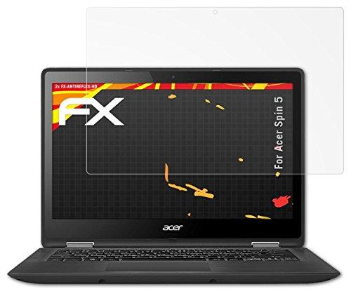Preisvergleich Produktbild 2 x atFoliX Folie Acer Spin 5 Displayfolie - FX-Antireflex-HD Entspiegelung für hochauflösende Displays