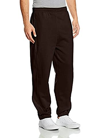 Urban Classics Men's Jogginghose Sweatpants Drawcord - Tracksuit Bottoms - Brown (Brown), Small (Manufacturer size: Small)