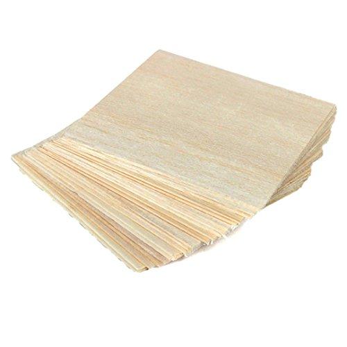 20x, Balsaholz Blatt Holz Teller Modell Craft für DIY Haus Schiff Flugzeug 100x 100x 1mm