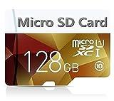 Carte Mémoire microSDXC 128 Go Classe 10 avec Adaptateur SD